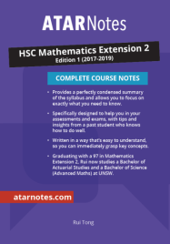 ATAR NOTES HSC: MATHEMATICS EXTENSION 2 YEAR 12 NOTES