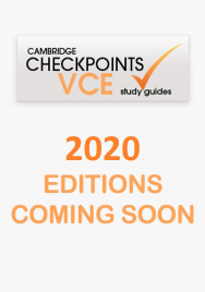 CAMBRIDGE CHECKPOINTS VCE CHEMISTRY UNITS 3&4 2020 + QUIZ ME MORE