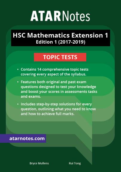 Buy Book - ATARNOTES HSC MATHEMATICS EXTENSION 1 TOPIC TESTS