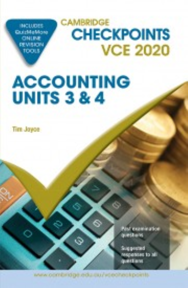 Buy Book - CAMBRIDGE CHECKPOINTS VCE ACCOUNTING UNITS 3&4