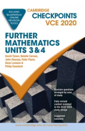 CAMBRIDGE CHECKPOINTS VCE FURTHER MATHEMATICS UNITS 3&4 2020 + QUIZ ME MORE
