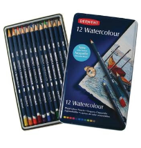 12 DERWENT WATERCOLOUR PENCILS