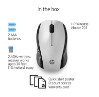 HP 201 SILVER WIRELESS MOUSE FOR LIFE