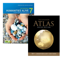 JACARANDA HUMANITIES ALIVE 7 VICTORIAN CURRICULUM 2E LEARN TEXTBOOK & JACARANDA ATLAS 9E