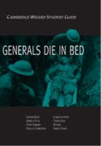 Generals die in bed essay