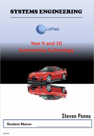 AUTOMOTIVE TECHNOLOGY STUDIES YEAR 9/10 EBOOK (Restrictions apply to eBook, read product description)