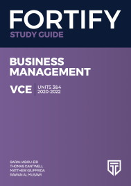 FORTIFY VCE BUSINESS MANAGEMENT UNITS 3&4 2020 - 2022 STUDY GUIDE
