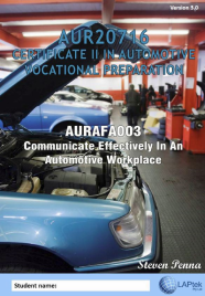 CERT II IN AUTOMOTIVE VOCATIONAL PREPARATION: COMMUNICATE EFFECTIVELY IN AN AUTOMOTIVE WORKPLACE EBOOK (Restrictions apply to eBook, read product description)