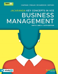KEY CONCEPTS IN VCE BUSINESS MANAGEMENT UNITS 3&4 6E & EBOOKPLUS (INCL STUDYON)