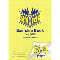 64 PAGE EXERCISE BOOK 11MM RULED