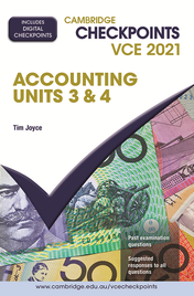 CAMBRIDGE CHECKPOINTS VCE ACCOUNTING UNITS 3&4 2021 + QUIZ ME MORE
