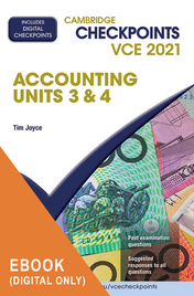 CAMBRIDGE CHECKPOINTS VCE ACCOUNTING UNITS 3&4 2021  + QUIZ ME MORE EBOOK