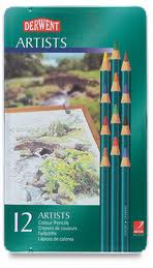 12 DERWENT ARTIST COLOUR PENCILS