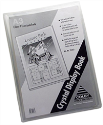 A3 DISPLAY BOOK 20 POCKETS NON-REFILLABLE CLEAR COVER