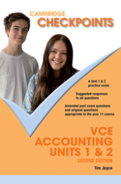 CHECKPOINTS VCE ACCOUNTING UNITS 1&2 2013 - 2018