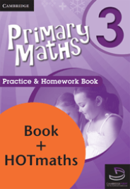 PRIMARY MATHS YEAR 3 - PRACTICE AND HOMEWORK BOOK + HOTMATHS BUNDLE