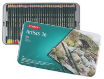36 DERWENT ARTIST COLOUR PENCILS
