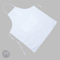 ART APRON WHITE WITH POCKETS