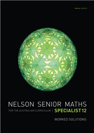 NELSON SENIOR MATHS AC SPECIALIST 12 SOLUTIONS DVD