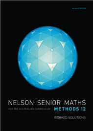 NELSON SENIOR MATHS AC METHODS 12 SOLUTIONS DVD