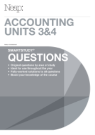 NEAP SMARTSTUDY QUESTIONS: ACCOUNTING UNITS 3&4 EBOOK (No printing or refunds. Check product description before purchasing)