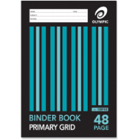 48 PAGE A4 PRIMARY GRID BINDER BOOK