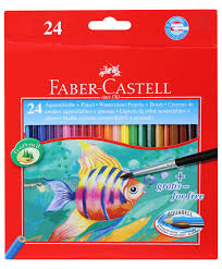 24 FABER CASTELL WATERCOLOUR PENCILS