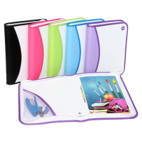 2D RING A4 25MM FOLDER WITH ZIP BINDER