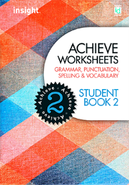 ACHIEVE WORKSHEETS: GRAMMAR, PUNCTUATION, SPELLING & VOCABULARY STUDENT BOOK 2 + EBOOK BUNDLE