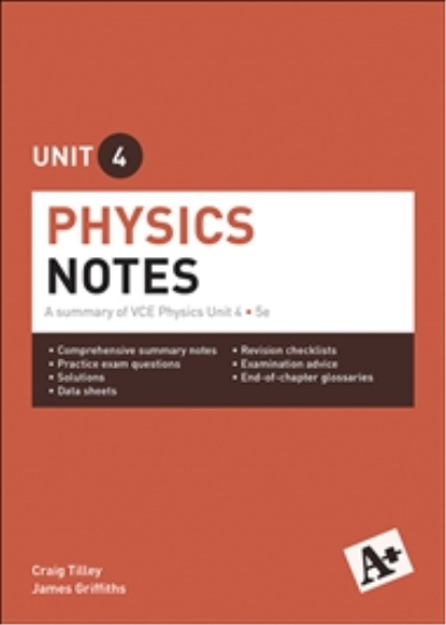 A+ PHYSICS NOTES VCE UNIT 4 (5E)